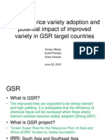 Pattern of rice variety adoption and potential impact of improved variety in GSR target countries