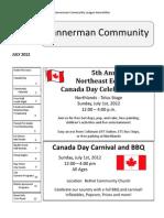 Bannerman Community July 2012 Newsletter