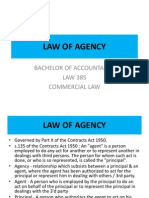 Law 385 - Law of Agency 2011