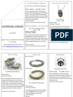 Redox Jewellery Studio - Classes Brochure July 2012