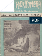Revista Evita Montonera. Buenos Aires, Nº 6, año I, agosto, 1975