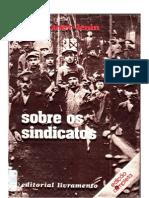 Lenin - Sovre Os Sindicatos - Capa e Indice