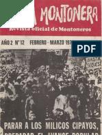 Revista Evita Montonera. Buenos Aires, Nº 12, febrero-marzo, 1976