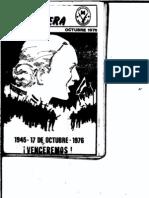Revista Evita Montonera. Buenos Aires, Nº 14, octubre, 1976
