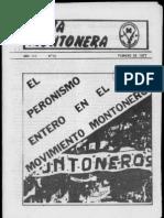 Revista Evita Montonera. Buenos Aires, Nº 15, febrero, 1977