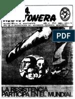 Revista Evita Montonera. Buenos Aires, Nº 21, Abril-Mayo, 1978