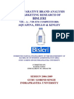 Bisleri Marketing Competitor Analysis New Project