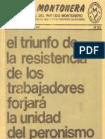 Revista Evita Montonera. Buenos Aires, Nª 22, Septiembre-Octubre, 1978