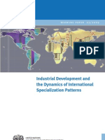UNIDO - Industrial Development and Dynamics of International Specialization Patterns