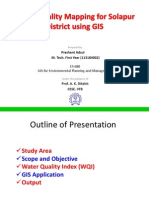 Water Quality Mapping for Solapur District Using GIS