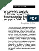 Sanz Cerbino, G. - El Huevo de La Serpiente. La Asamblea Permanente de Entidades Gremiales Empresarias y El Golpe de Estado de 1976.