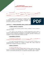 Act Constitutiv Srl Asociat Unic Octav 2009
