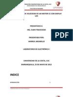 CONTROL MOTOR DC POR PWM Y PUERTO SERIAL-PROYECTO ELECTRÓNICA I