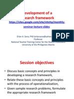 Development of a Research Framework