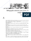 Bibliographie Indicative Pour Servir a La Critique de La Valeur