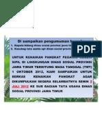 PENGUMUMAN KENAIKAN PANGKAT TMT 1 OKTOBER 2012