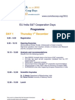 Eu-India s&t Days Agenda