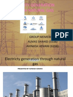 Electricity Generation Through Natural Gas Full and Final