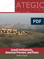 Israeli Settlements, American Pressure, And Peace
