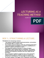 Lecturing as a Teaching Method