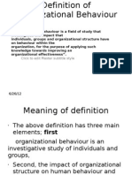 Definition of Organizational Behaviour