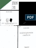 "Melchor Ferrer ""Escritos políticos de Carlos VII"""