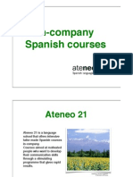 In-Company Spanish Courses Ateneo21 London