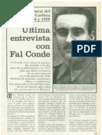 "Josep Carles Clemente ""Ultima entrevista con Fal Conde"""