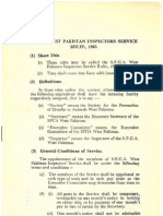 SPCA West Pakistan Inspectors Service Rules 1965