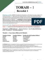 La TORAH 1-2 (Bereshit 1-2)