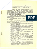 Rules Governing the District Branches of SPCA Punjab,1971