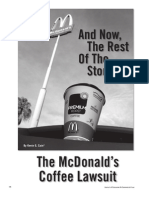 Lawsuit Liebeck vs MC Donald