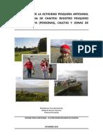 Descripción de la actividad pesquera artesanal en la comuna de Chaiten