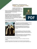 Convergencias y Divergencias Entre Santa Teresa y San Juan de La Cruz