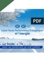 INF-REG construction environnementale & labels énergétiques _Bbc _rt2005 Dpe Hpe & Effinergie
