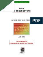 Vue d'ensemble de la note de conjoncture de l'Insee