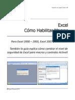 Cómo habilitar macros (Excel)