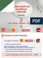 Baromètre BVA - Orange - L'Express - France Inter - juin 2012