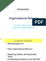 Organizational Behaviour- Chart
