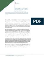 Economic Snapshot for June 2012
