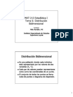 Distribución Bidimensional