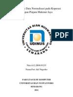 Tugas Basis Data Normalisasi Pada Koperasi Simpan Pinjam Makmur Jaya