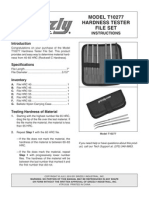 Hardness Tester File Set Instructions