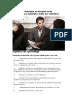 Capítulo 4 Elementos esenciales de la planeación y la administración por objetivos