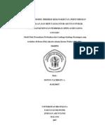 Pengaruh Model Prediksi Kebangkrutan, Pertumbuhan Perusahaan, Dan Reputasi Kantor Akuntan Publik Terhadap Ketepatan Pemberian Opini Audit Going Concern Studi Pada Perusahaan Perbankan Dan Lembaga K