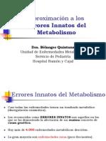 Trastornos Congenitos Del Metabolismo