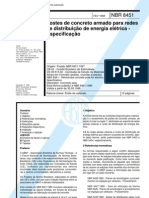 NBR 8451.1998 - Postes de Concreto Armado Para Redes de Dist