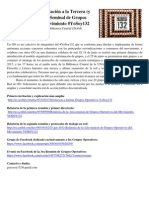 Documentos e Invitación a la 3ra Reunión de Grupos Operativos