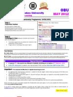 OBU Enrolment Form May 2012 - 5 Jan 2012
