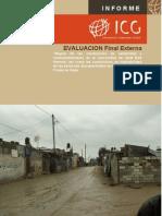 """Informe Evaluación Externa proyecto """"Mejora Salubridad Izbat Beit Hanoun Palestina"""""""